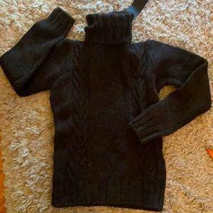 Alpha Massimo Rebecchi Brown Turtle Neck Sweater